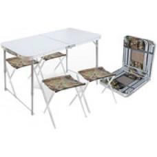 Стол со стульями Nika складной стол влагостойкий и 4 стула [ССТ-К2]