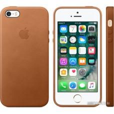 Чехол Apple Leather Case для iPhone SE Saddle Brown [MNYW2]