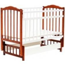 Детская кроватка Bambini Euro Style М 01.10.05 (светлый орех/белый)