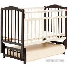 Детская кроватка Bambini Euro Style М 01.10.04 (орех темный/слоновая кость)