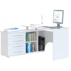 Компьютерный стол Сокол КСТ-109 левый (белый)