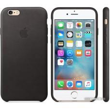 Чехол Apple Leather Case для iPhone 6 / 6s Black [MKXW2]