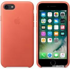 Чехол Apple Leather Case для iPhone 7 Geranium [MQ5F2]