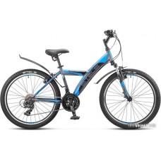 Велосипед Stels Navigator 410 V V020 (черный/синий, 2017)