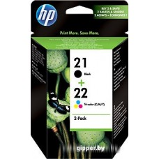Картридж для принтера HP 21 Black/22 Tri-color (SD367AE)
