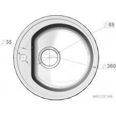 Кухонная мойка Polygran F-05 (терракот)