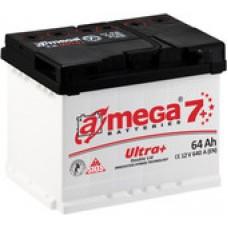 Автомобильный аккумулятор A-mega Ultra Plus 64 R (64 А·ч)