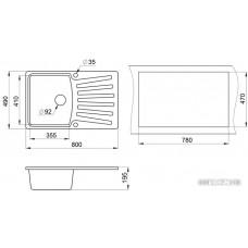 Кухонная мойка Granula 8001 (классик)