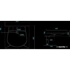 Умывальник Santek Пилот-60 61.5x60.5 [1.WH30.1.971]