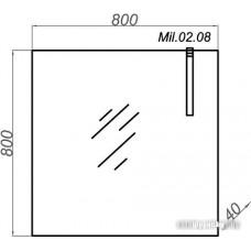 Aqwella Зеркало с подсветкой Милан 80 [Mil.02.08]