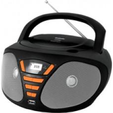 Портативная аудиосистема BBK BX180U (черный/оранжевый)