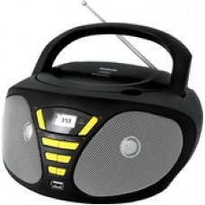 Портативная аудиосистема BBK BX180U (черный/желтый)