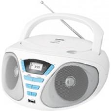 Портативная аудиосистема BBK BX180U (белый/голубой)