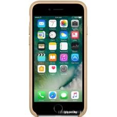 Чехол Apple Leather Case для iPhone 7 Tan [MMY72]